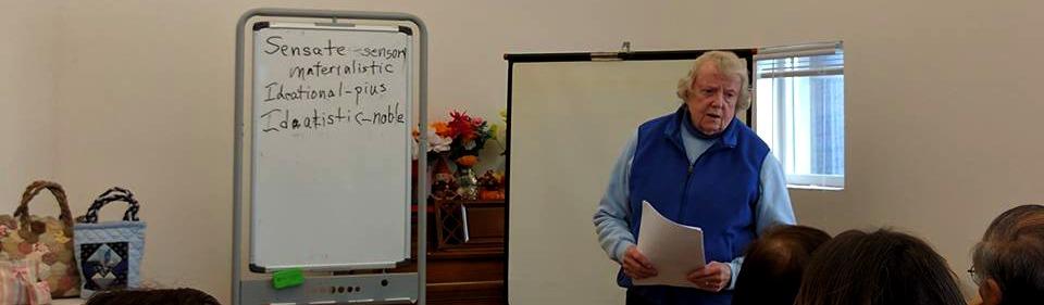 Rebecca giving a lecture