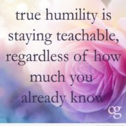 About Humility and Committing To Being Humble To Each Other