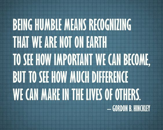 quote on being humble